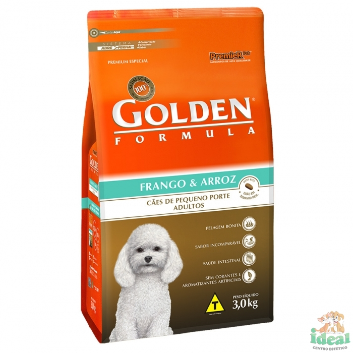 GOLDEN MB FRANGO E ARROZ ADULTO 3KG