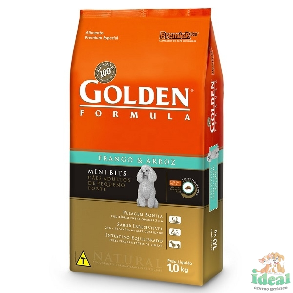 GOLDEN MB FRANGO E ARROZ ADULTO 1KG